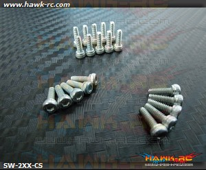 Hawk Chrome 12.9 Class M2*10 Hex Screws (20pc)
